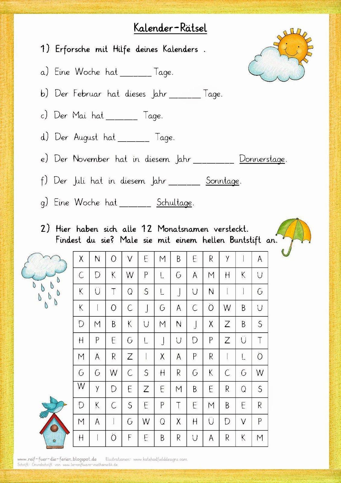 Rätsel Für Senioren Zum Ausdrucken Frisch Kalender Rätsel ganzes Rätsel Zum Ausdrucken Für Erwachsene