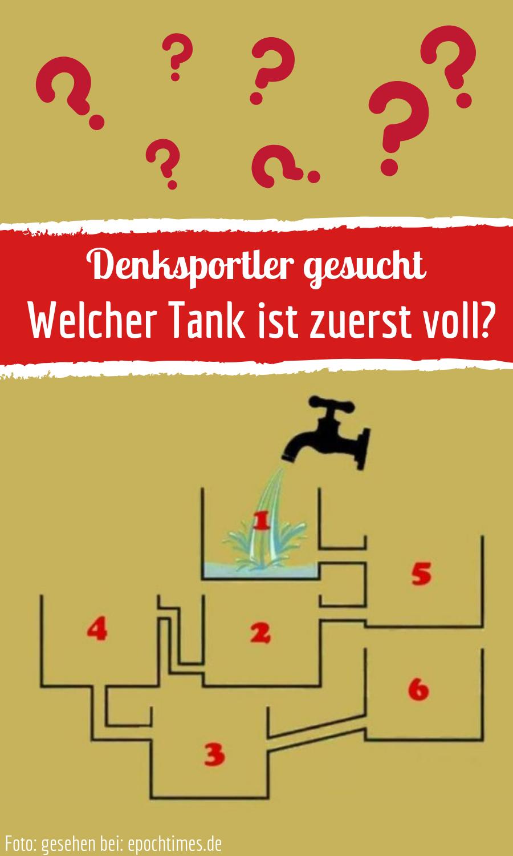 Rätsel: Welcher Tank Ist Zuerst Voll? (Mit Bildern) | Wissen bei Denk Rätsel
