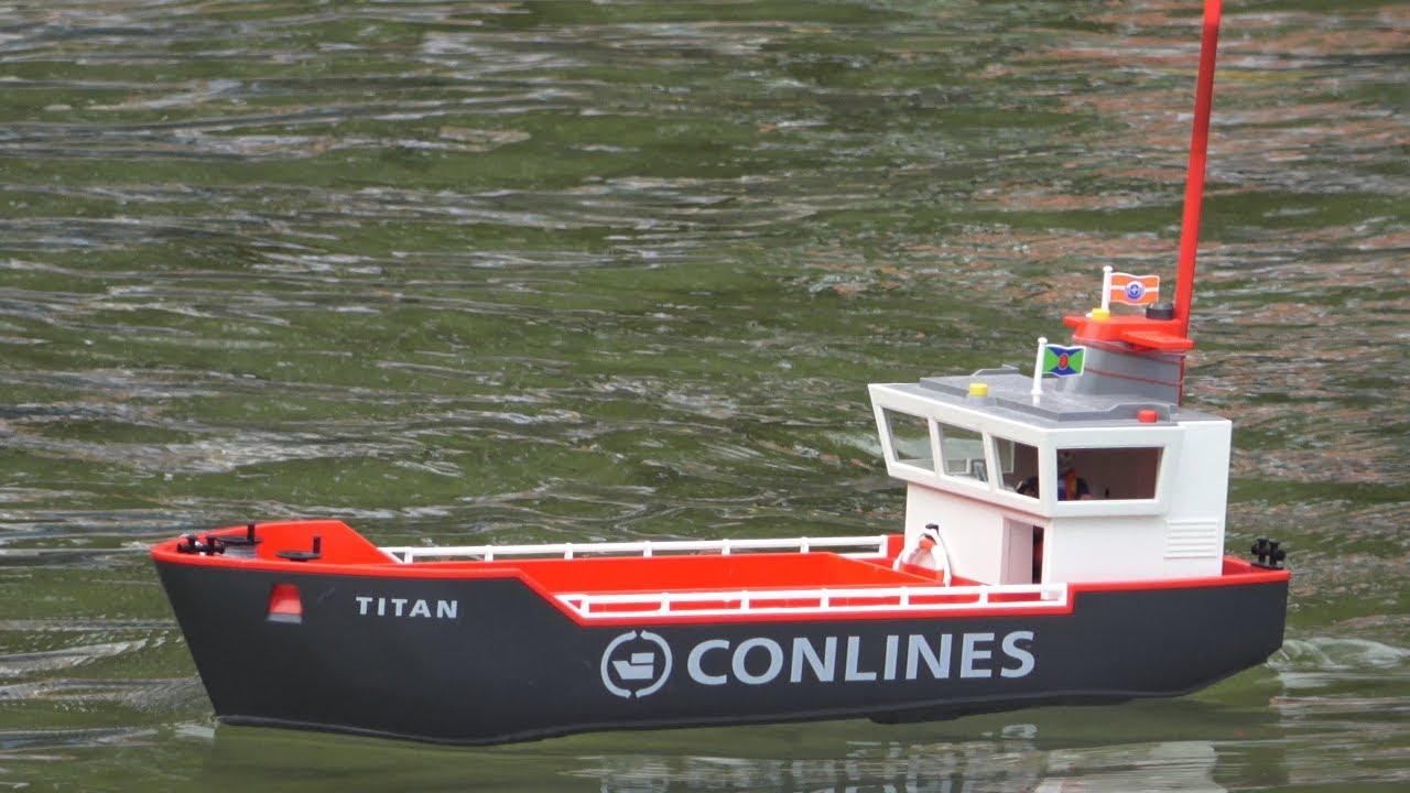 Rc Titan Playmobil® Britzer Garten Berlin 5.8.2018 4K ganzes Playmobil Containerschiff