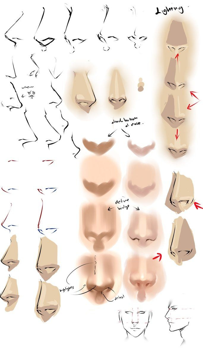 Realistic Anime Noses | Nose Drawing, Anime Nose, Art Tutorials innen How To Draw Anime Nose Step By Step
