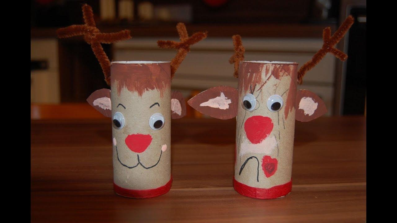 Recycling Basteln Mit Kindern - Ideen Für Weihnachten, Nikolaus Teil 1 -  Elch, Rentier Rudi für Weihnachts Bastelideen Für Kinder