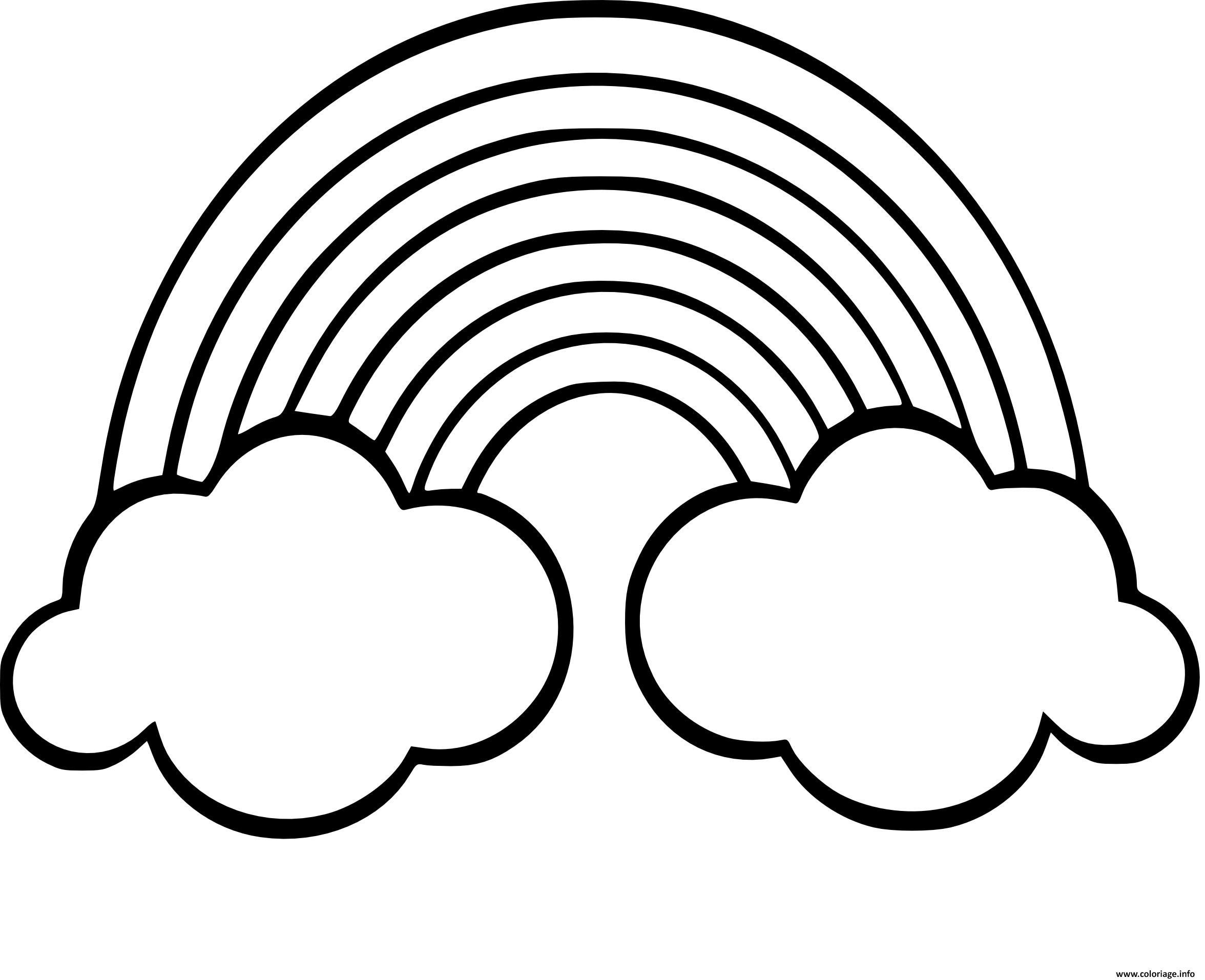 Regenbogen Mit Wolken Malvorlagen Zum Ausdrucken In 2020 innen Malvorlage Regenbogen