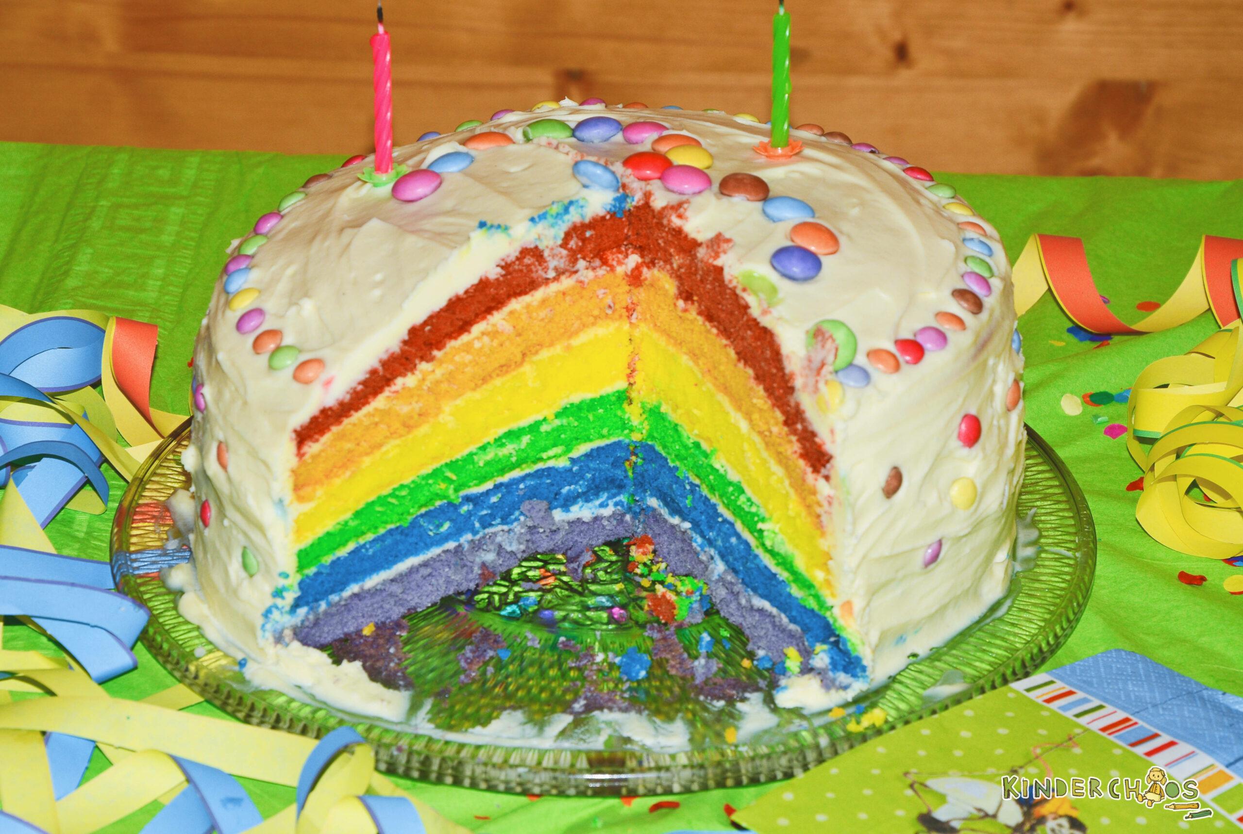 Regenbogentorte: Ein Geburtstagskuchen Wie Ein Regenbogen! mit Geburtstagstorte Für Kinder