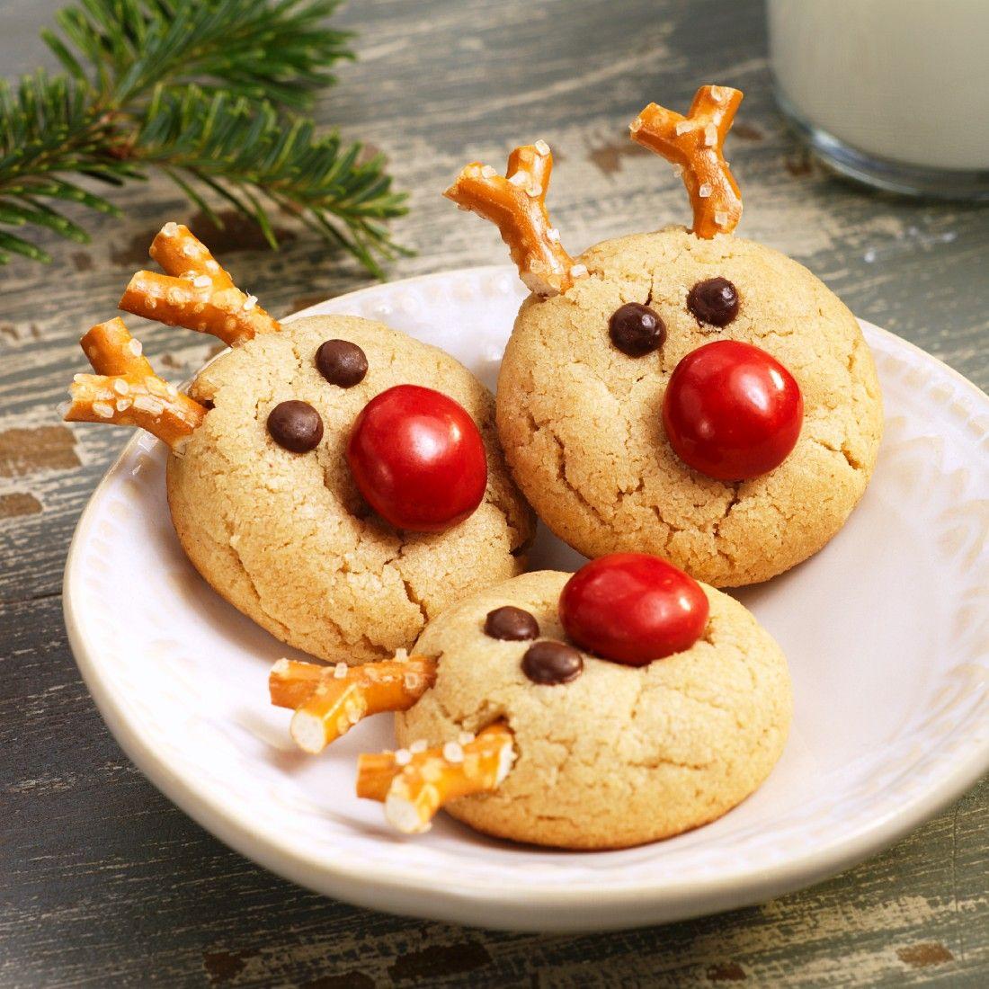 Rentier-Kekse Zu Weihnachten innen Plätzchen Rezepte Weihnachten Kinder