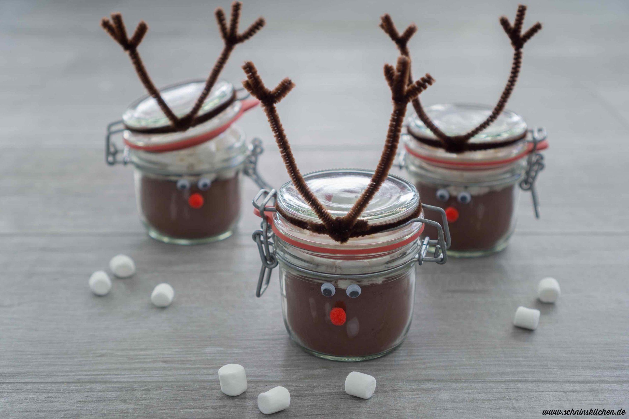 Rentierglas Basteln Für Geschenke Aus Der Küche - Schnin's mit Bastelideen Für Weihnachten Zum Verschenken