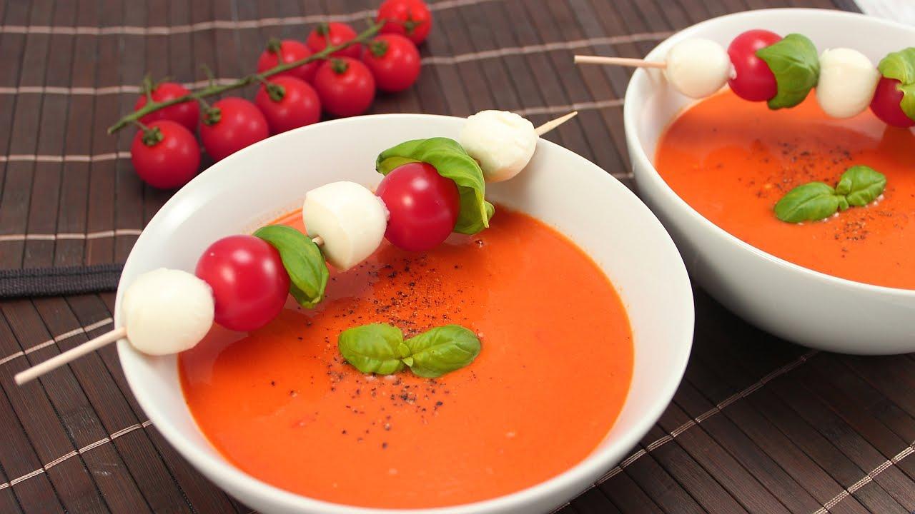 Rezept: Tomatencremesuppe- Schnell Und Einfach bei Tomatensuppe Aus Passierten Tomaten