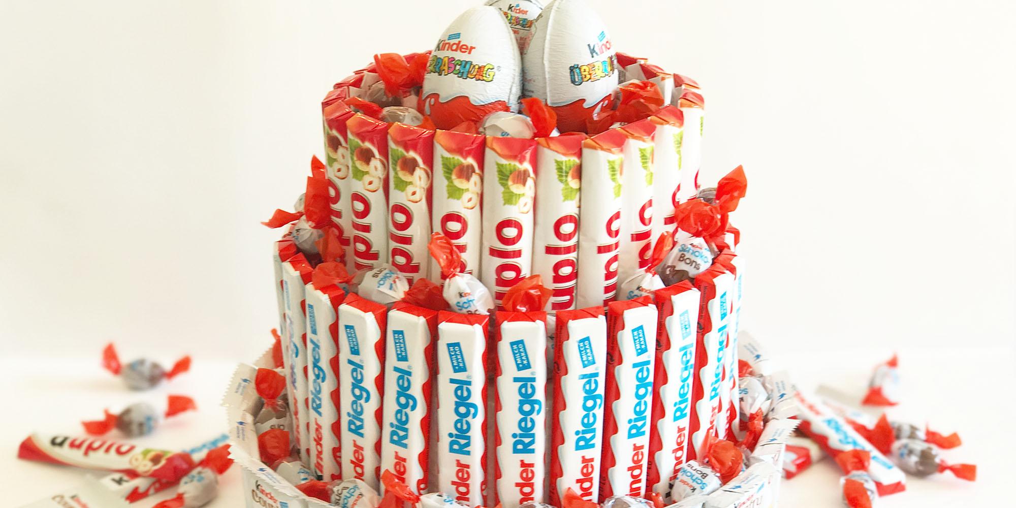 Riesen Kinder-Riegel-Torte: Rezepte Und Dekorieranleitung verwandt mit Torten Für Kindergeburtstag Rezepte