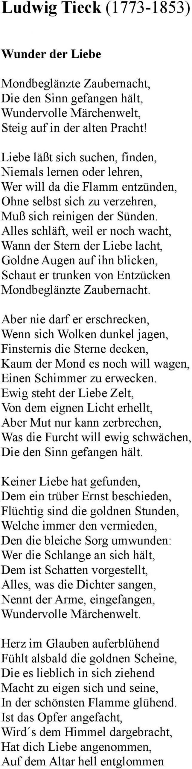 Romantiek ( ): Extra Gedichten - Pdf Free Download innen Mondbeglänzte Zaubernacht Die Den Sinn Gefangen Hält
