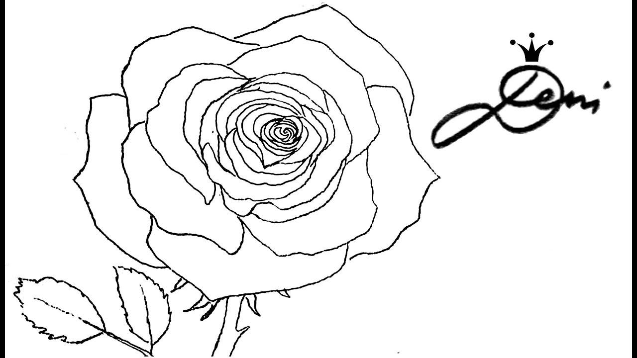 Rose Schnell Zeichnen Lernen Mit Bleistift 1 Vorzeichnung🌹 How To Draw A  Rose 🌹 Как Се Рисува Роза über Rosen Zeichnen Anleitung