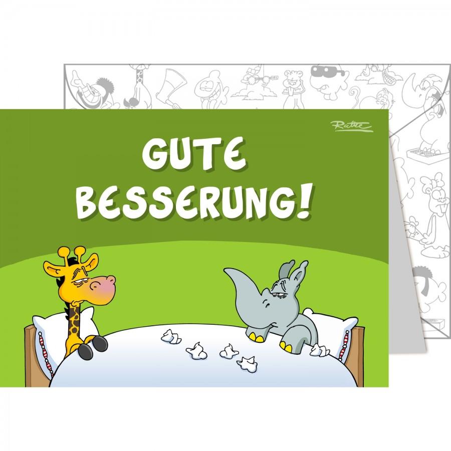 """Ruthe - Grußkarte Din A6 Mit Umschlag """"gute Besserung"""" bestimmt für Karte Gute Besserung"""