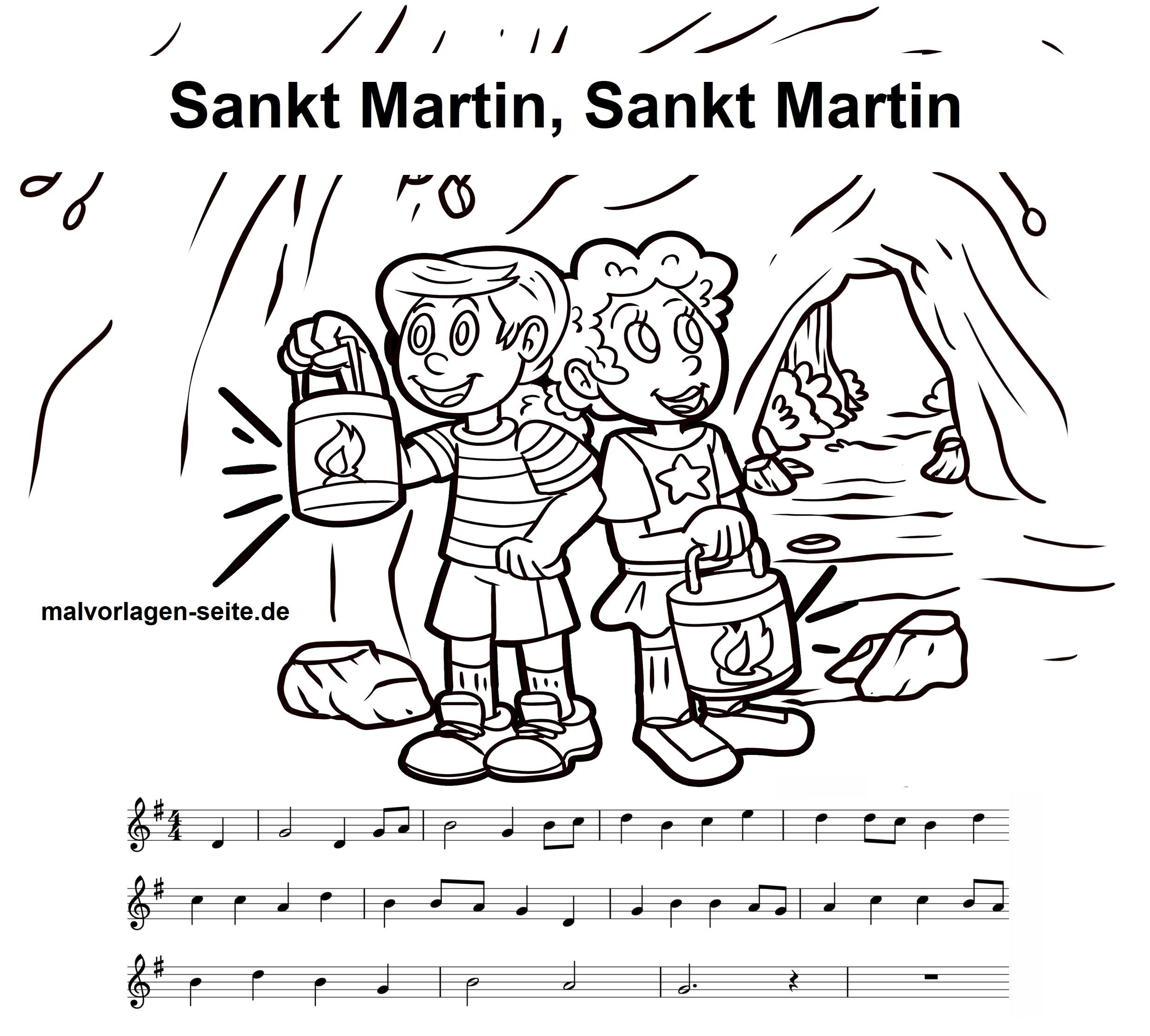 Sankt Martin Noten Und Text Vom Kinderlied Zum Ausdrucken in St Martin Ritt Durch Schnee Und Wind Text