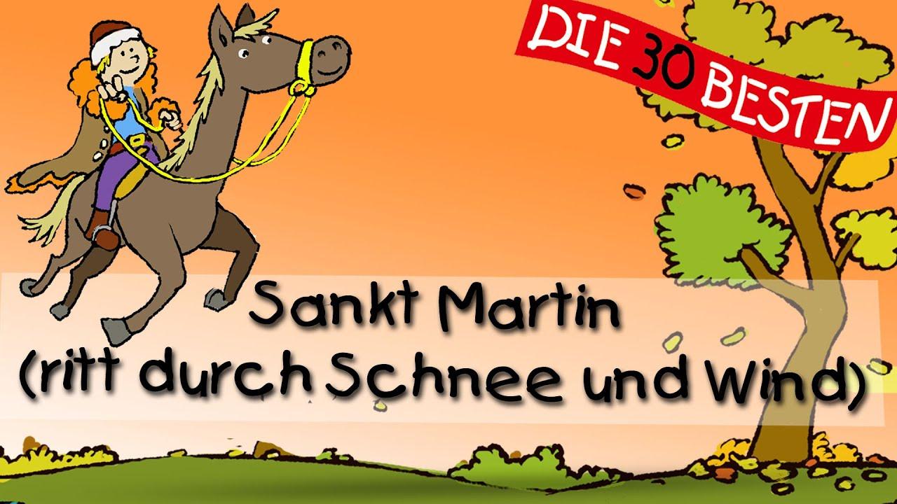 Sankt Martin (Ritt Durch Schnee Und Wind) - Die Besten Herbstlieder ||  Kinderlieder in St Martin Ritt Durch Schnee Und Wind Text