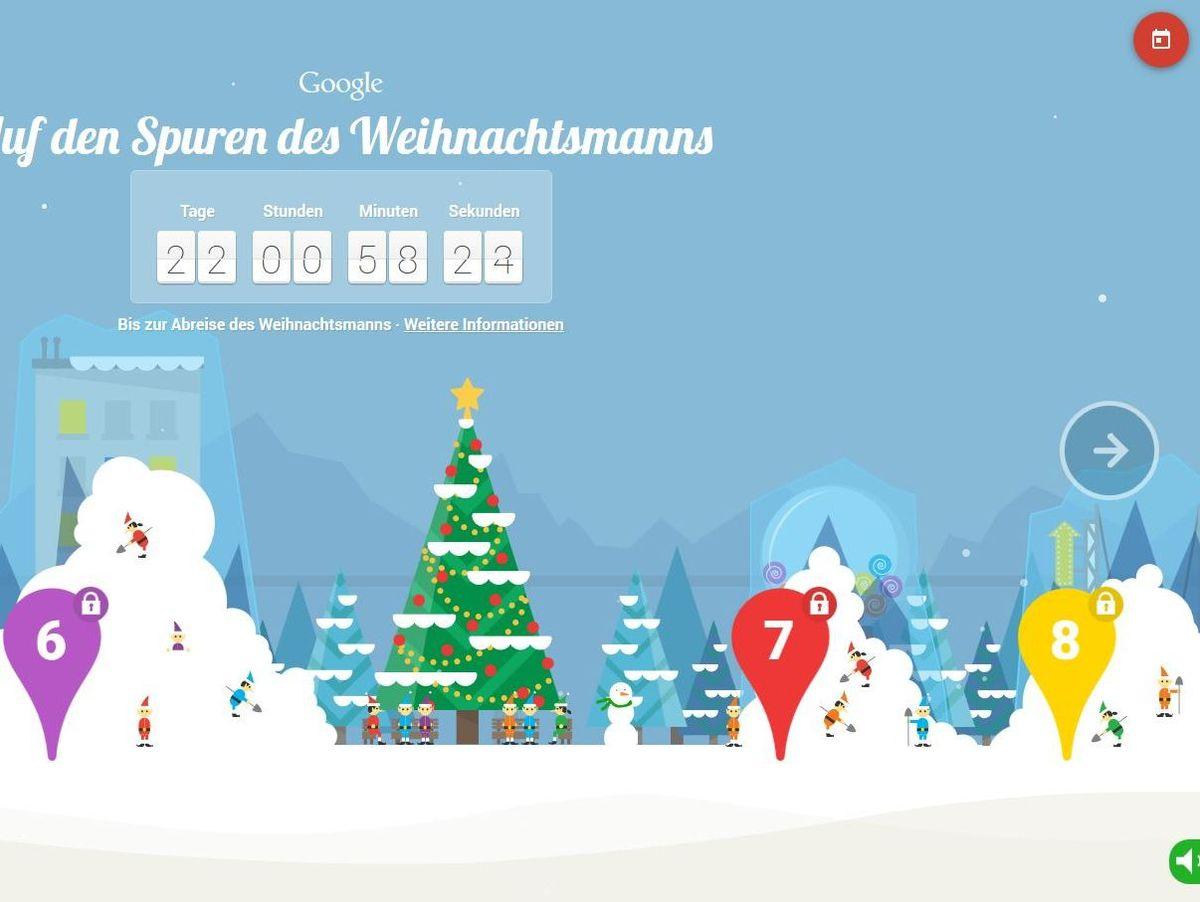 Santa Tracker: Googles Interaktiver Adventskalender - Der ganzes Auf Den Spuren Des Weihnachtsmanns