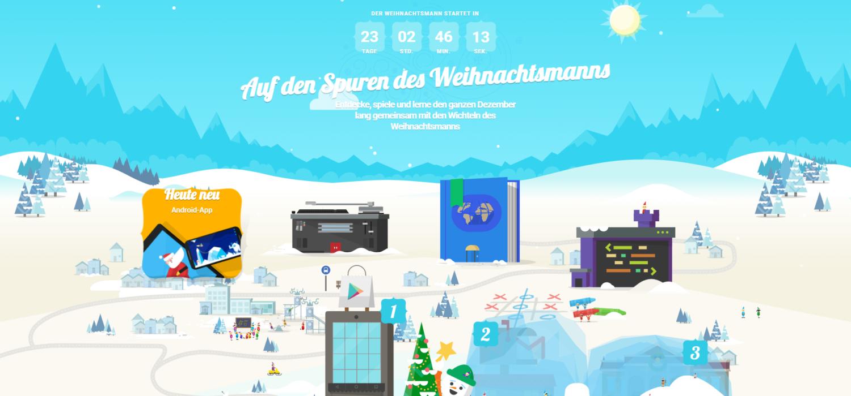 Santa Tracker – Wie Ihr Den Weihnachtsmann Auf Google in Auf Den Spuren Des Weihnachtsmanns