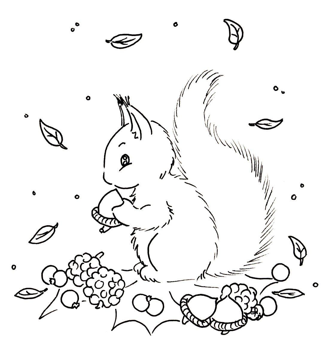 Santa's Helper | Vintage Stickmuster, Stickereimuster ganzes Eichhörnchen Zum Ausmalen