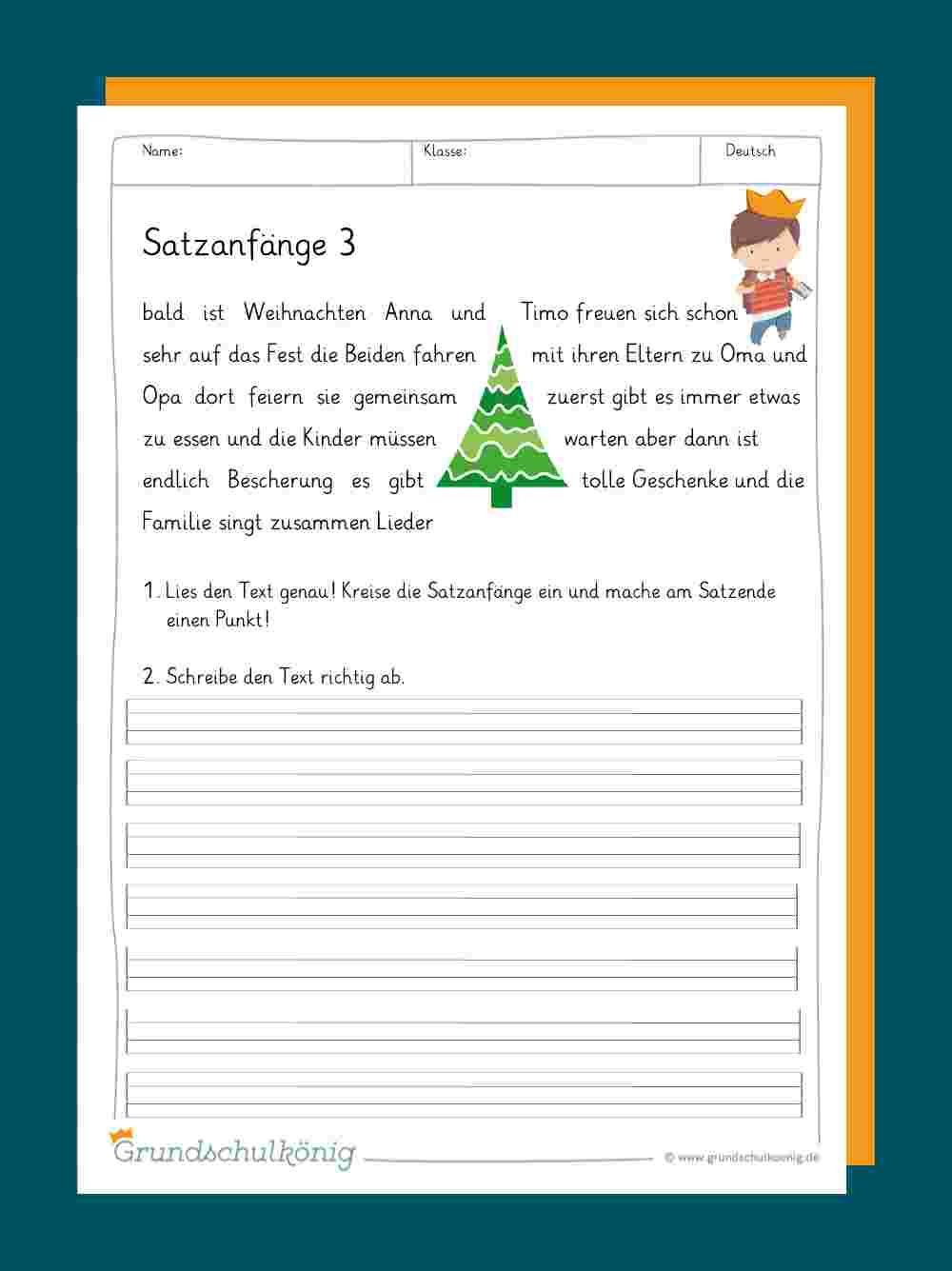 Sätze / Satzbau (Mit Bildern)   Satzbau, Lernen, Deutsch 2 innen Deutsch 2 Klasse Volksschule Übungsblätter
