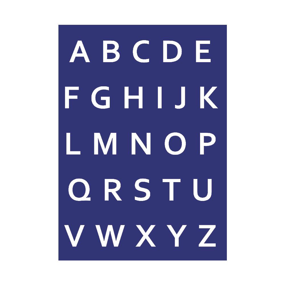 Schablone: Alphabet-Großbuchstaben über Alphabet Großbuchstaben