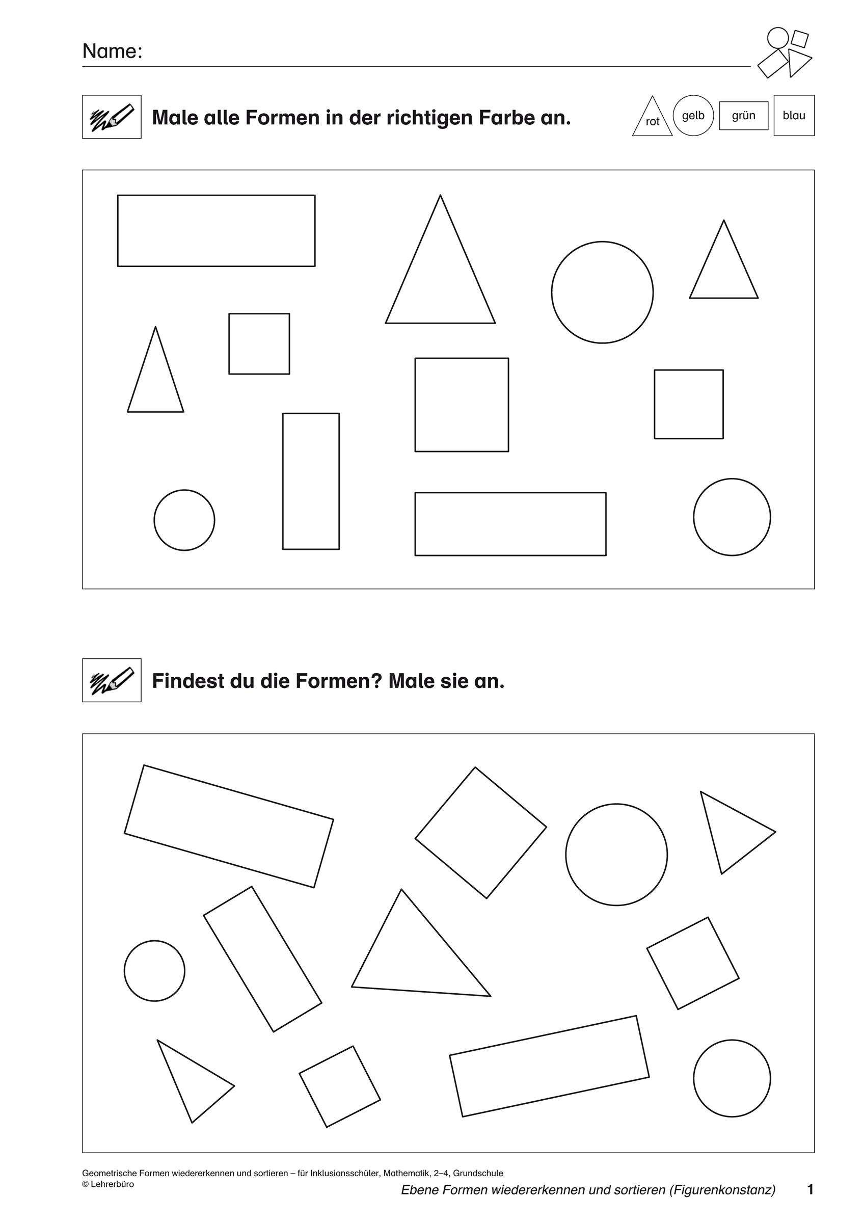 Schablone Geometrische Formen Schule Mathematik Geometrie bei Mathematische Formen