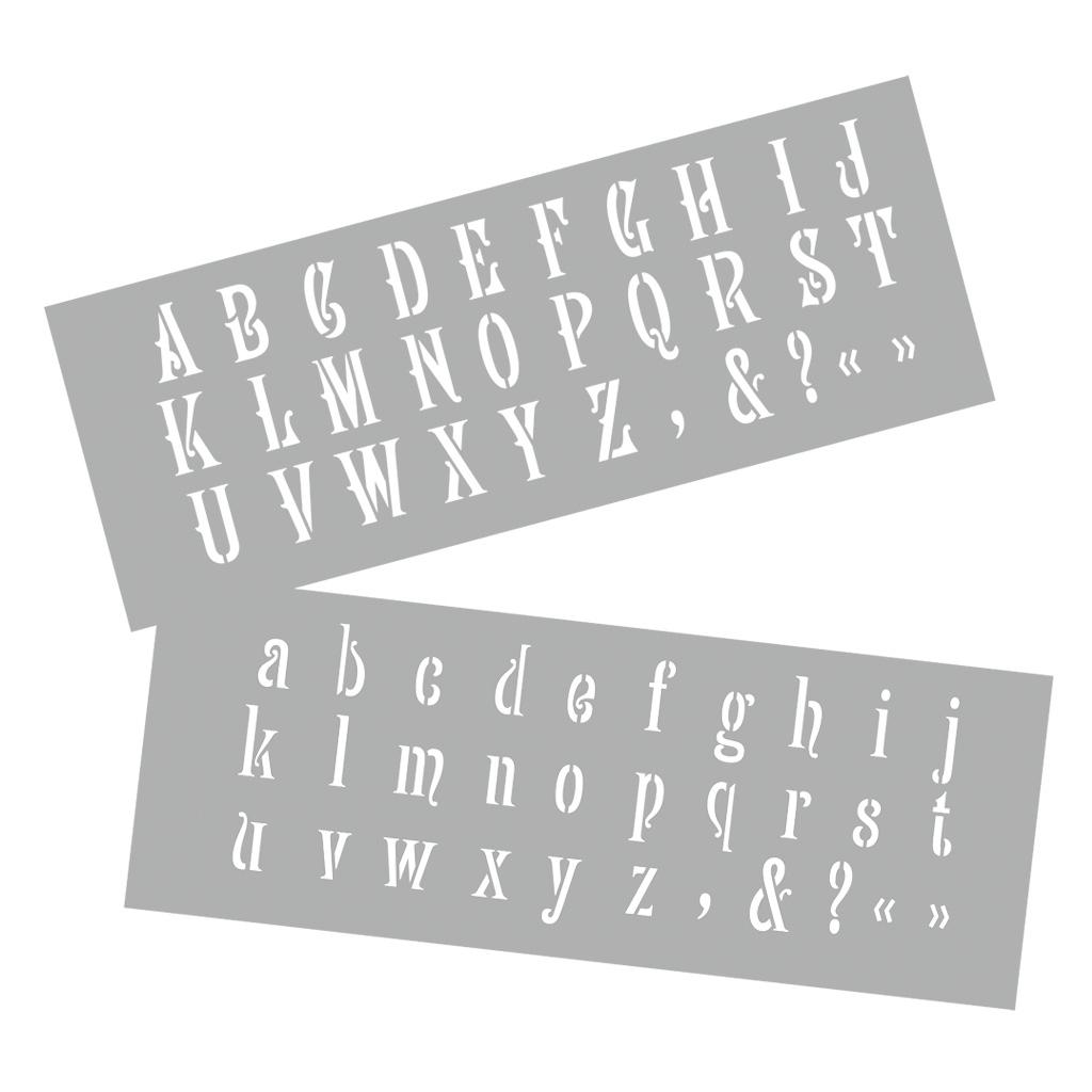 Schablonen Zur Karten Und Wandgestaltung bei Alphabet Großbuchstaben