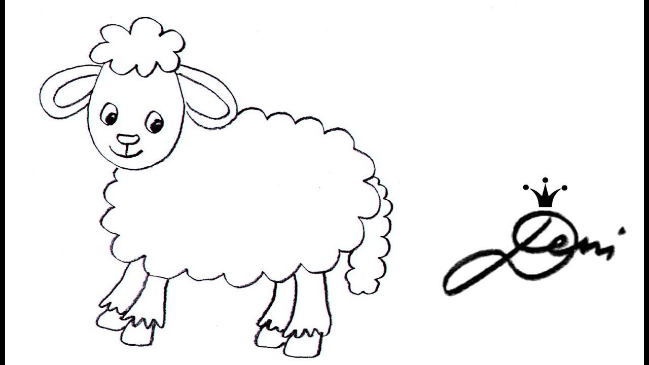 Schaf Aus Einer Wolke Zeichnen ☁️ Schnell 🐑 Einfach 🐑 How To Draw A Sheep  For Children 🐏 Овца bei Schaf Malen