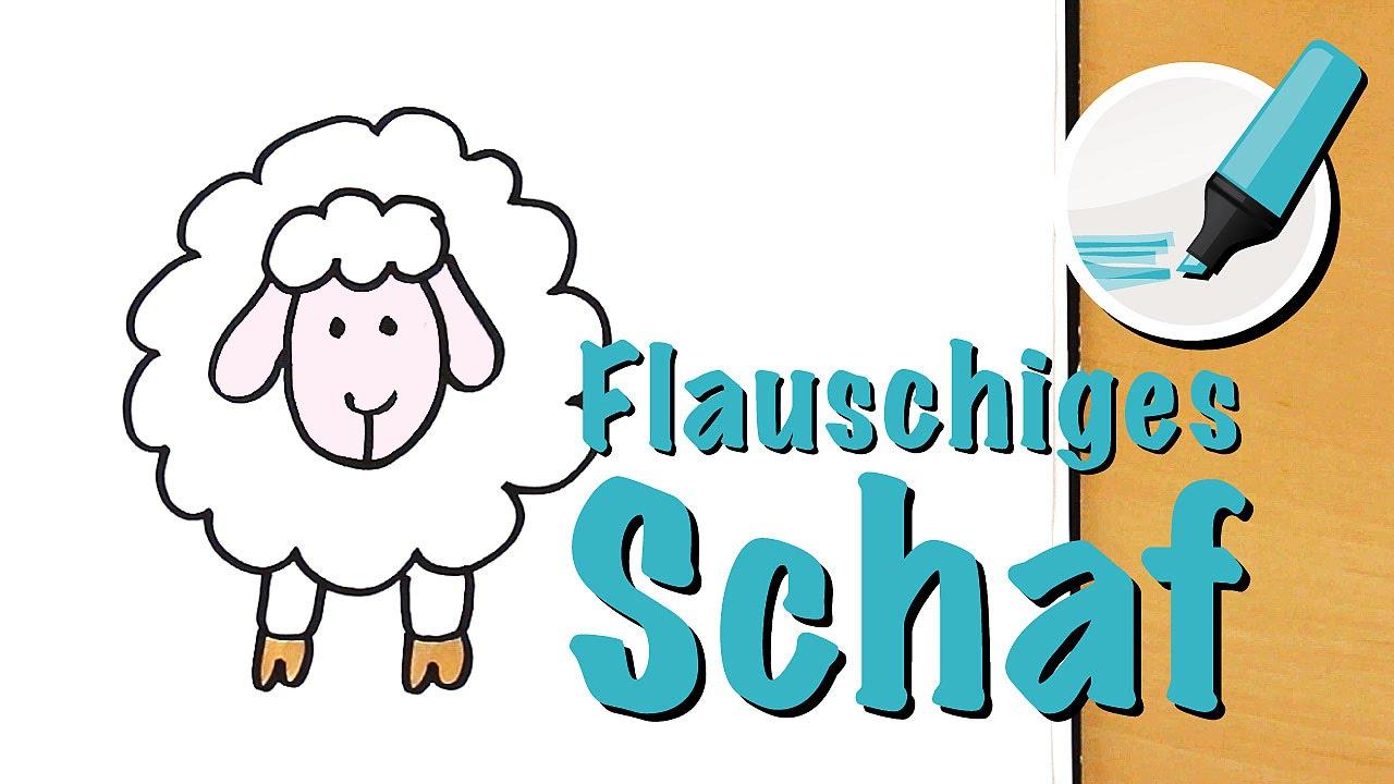 Schaf Zeichnen Lernen - Der Medizinmann Unter Den Tieren - How To Draw A  Sheep (Cartoon) ganzes Schaf Malen