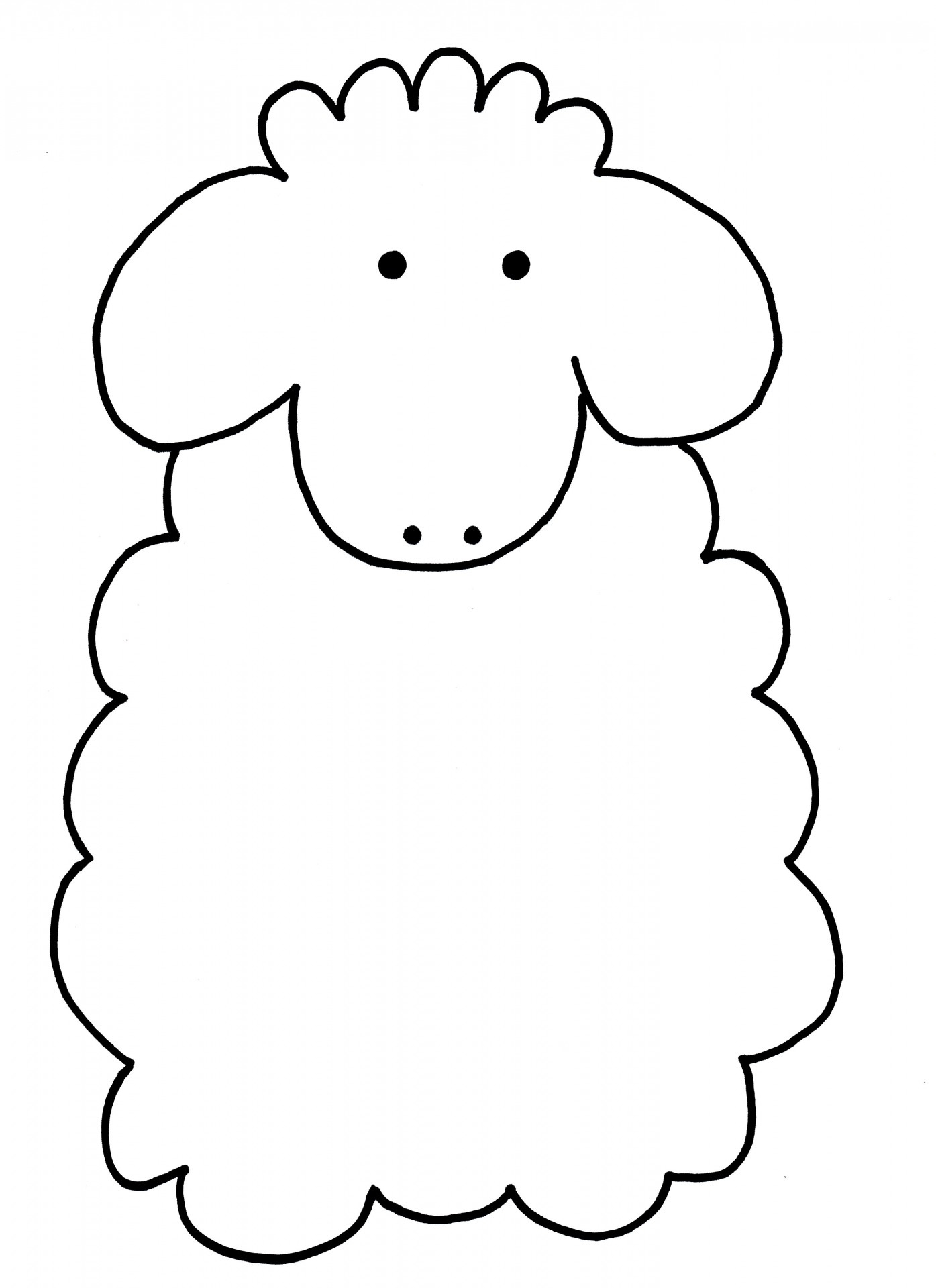 Schafe Zum Ausmalen – Schafsnase für Schaf Malvorlage