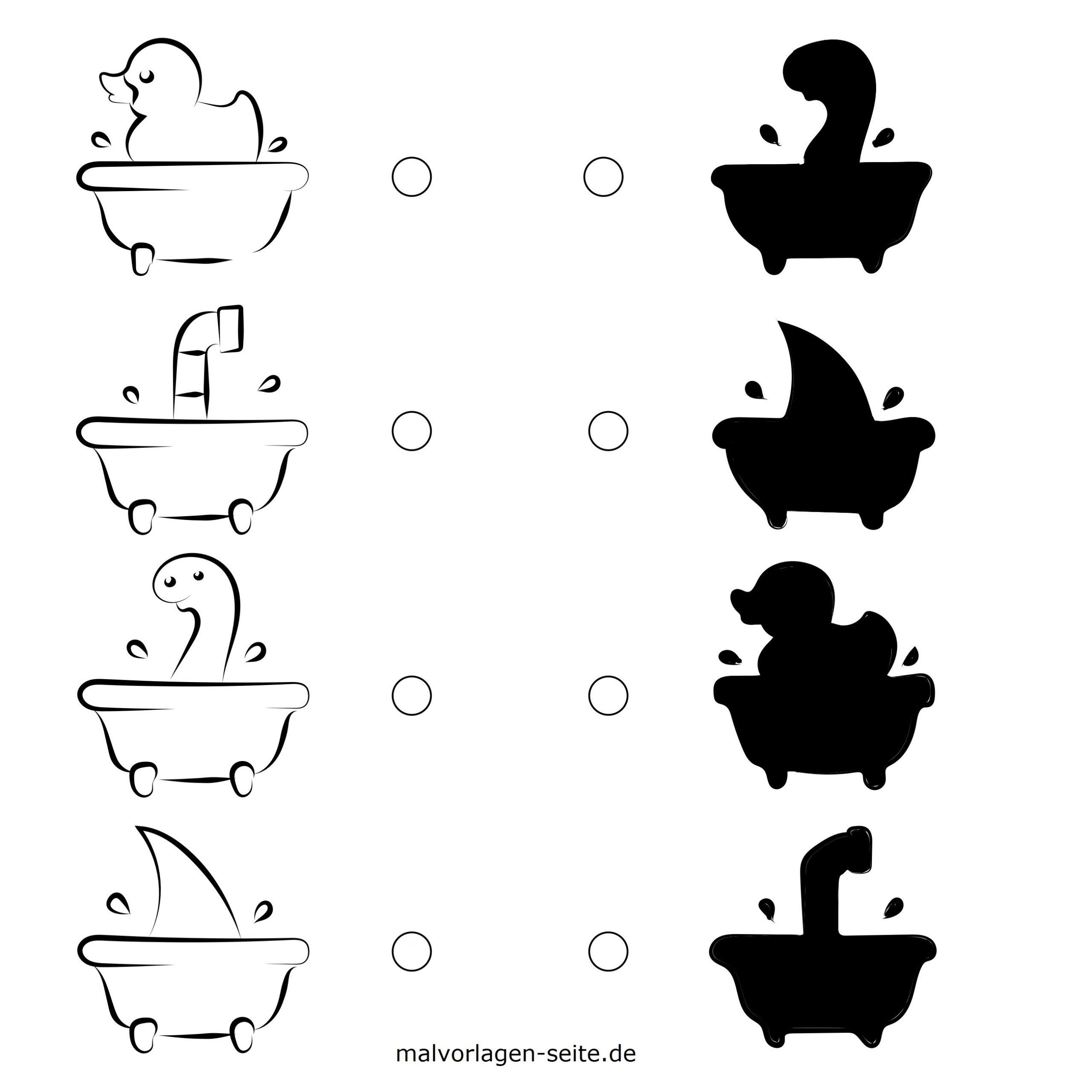 Schattenrätsel Für Kinder | Rätsel - Ausmalbilder Kostenlos bei Kinderrätsel Tiere