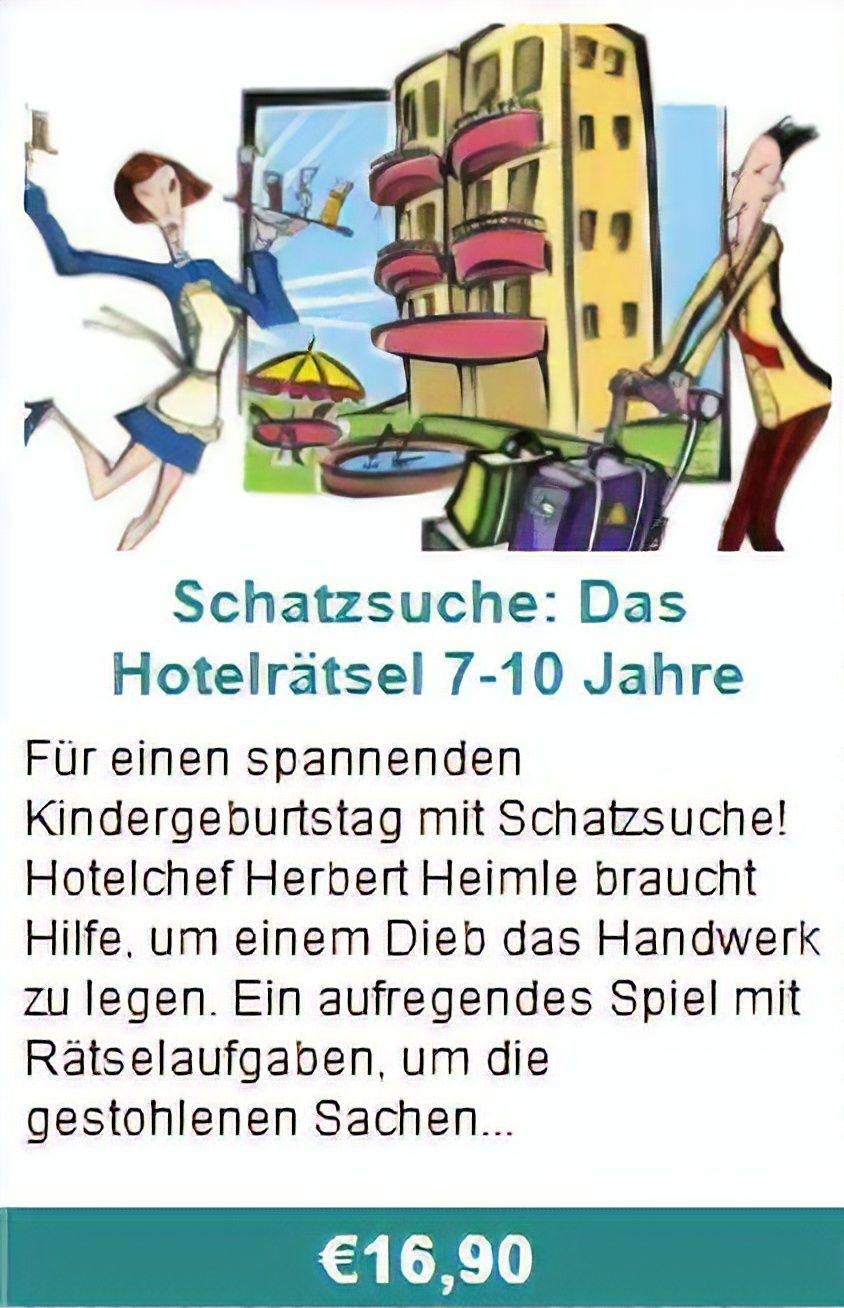 Schatzsuche: Das Hotelrätsel 4-6 Jahreder Hotelchef Herbert mit Rätselaufgaben