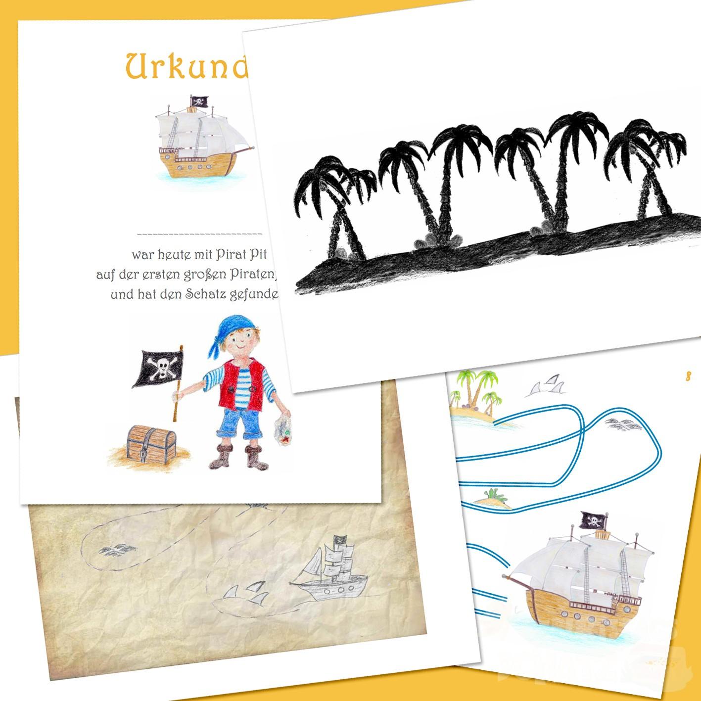 Schatzsuche Pirat (5-6 Jahre) bei Piratengeschichte Für Schatzsuche Kindergeburtstag