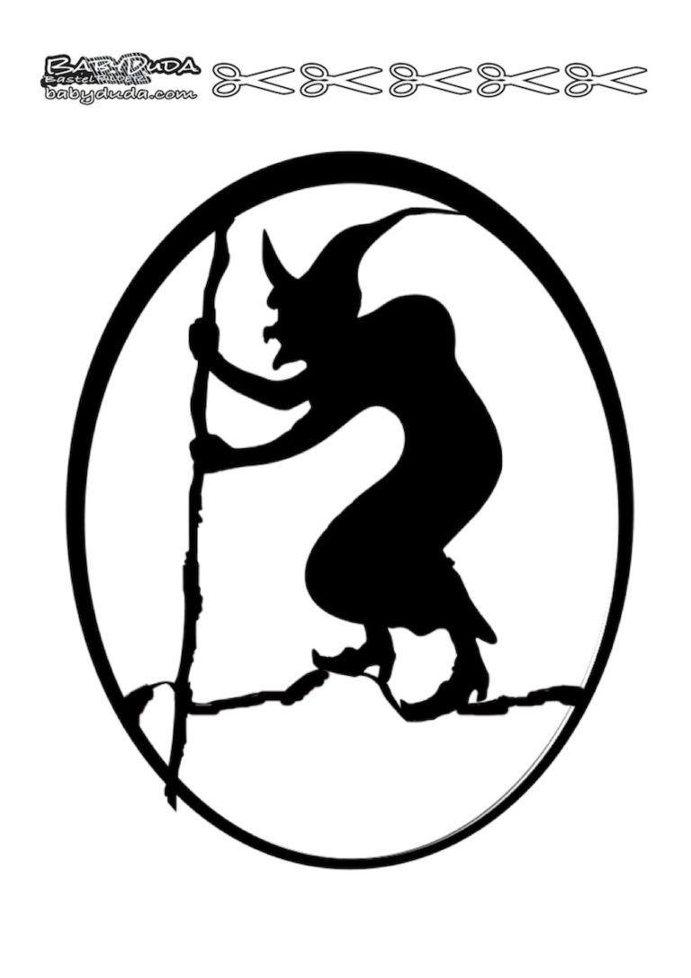 Scherenschnitte Hexenmotiven Walpurgisnacht (Mit Bildern verwandt mit Scherenschnitt Hexe Vorlage