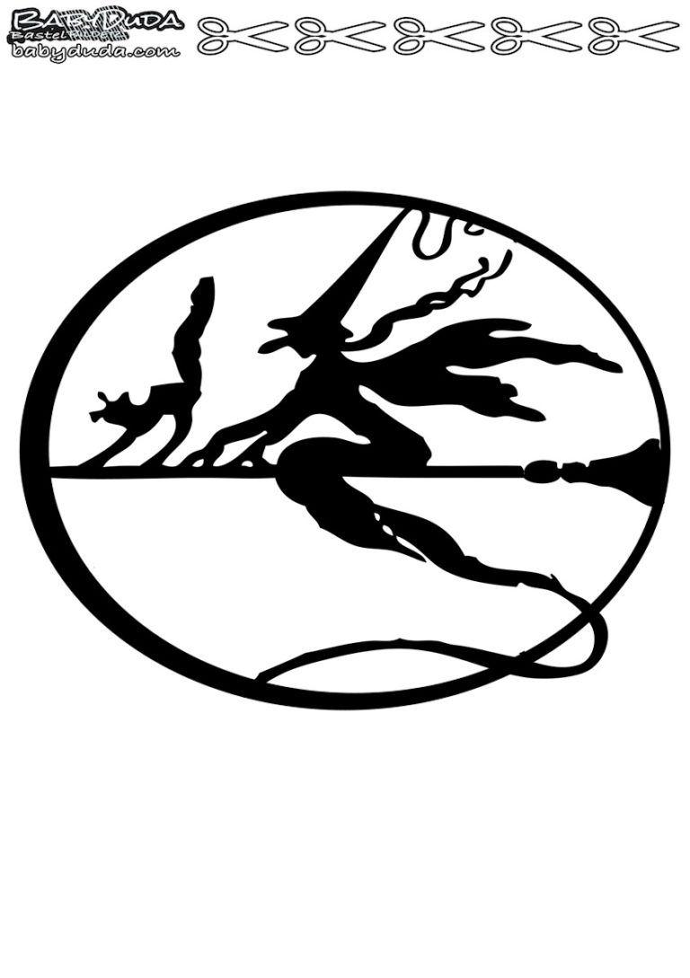 Scherenschnitte Hexenmotiven Walpurgisnacht | Scherenschnitt bestimmt für Scherenschnitt Hexe Vorlage