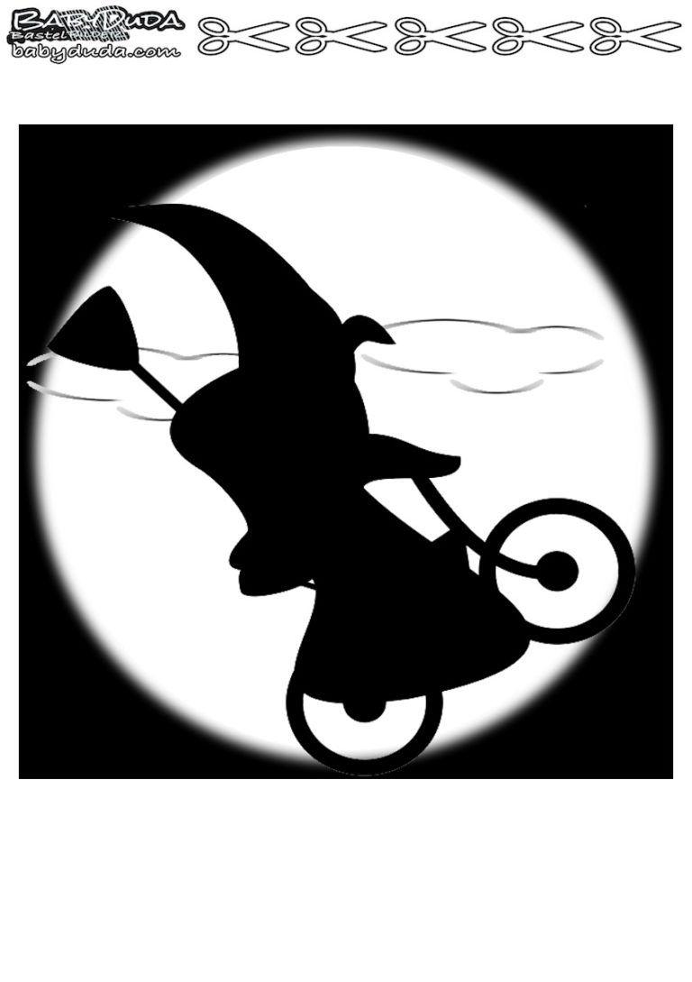 Scherenschnitte Hexenmotiven Walpurgisnacht | Scherenschnitt über Scherenschnitt Hexe Vorlage