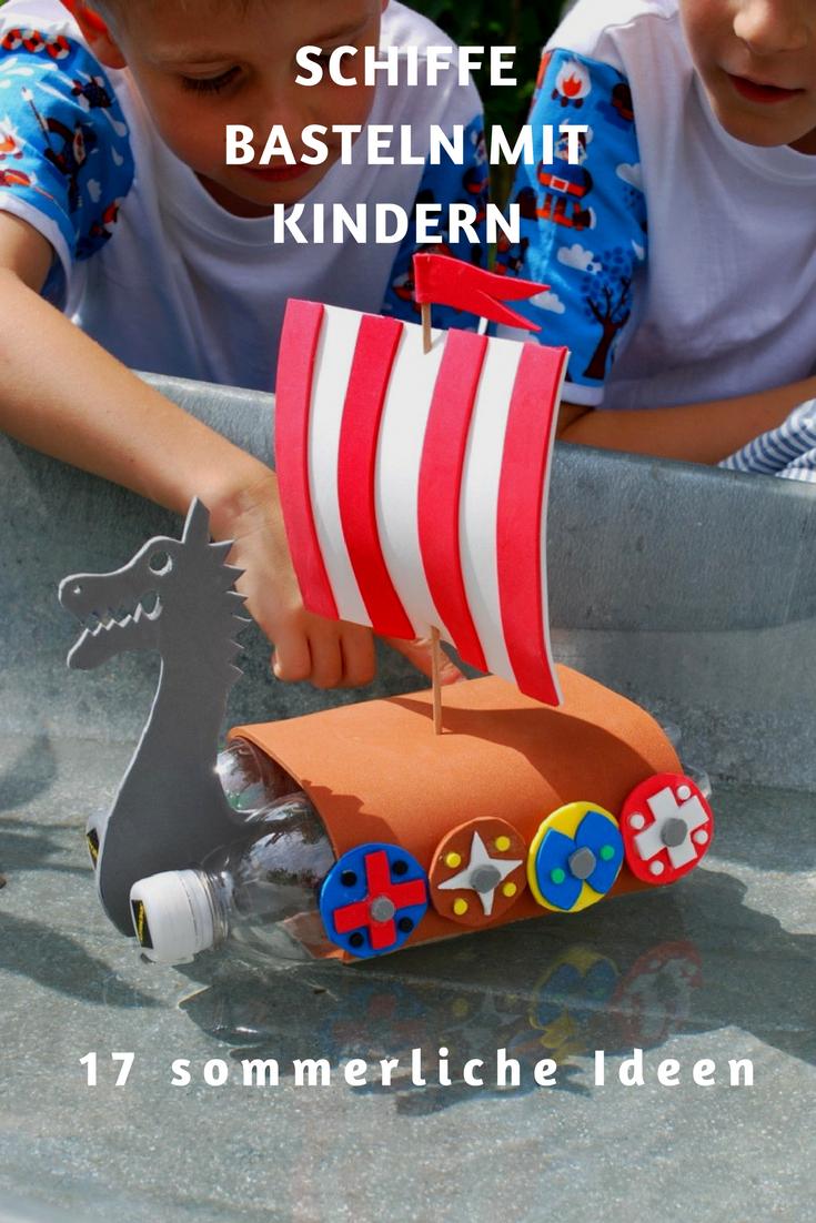 Schiffe Basteln Mit Kindern – 17 Kreative Und Sommerliche bei Bastelvorlage Schiff