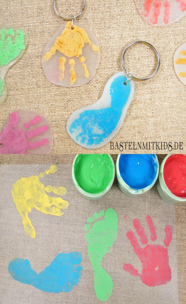 Schlüsselanhänger Basteln Mit Kindern | Muttertag Basteln innen Muttertagsgeschenk Basteln Kleinkinder