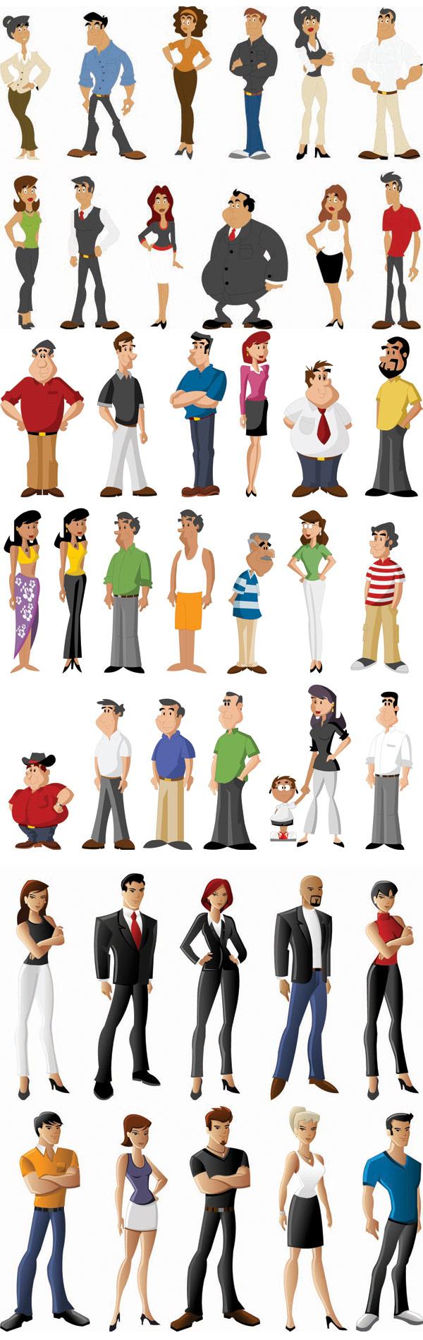 Schlüsselwörter Cartoon Charakter Fett White-Collar Männer ganzes Comicfiguren Frauen