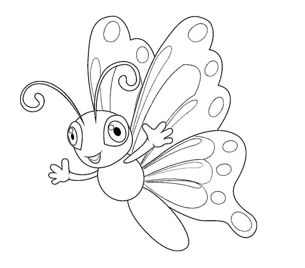 Schmetterling Ausmalbilder Kostenlos - Kids-Ausmalbildertv bei Malvorlage Schmetterling