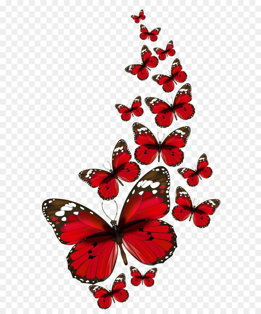 Schmetterling Clip Art - Rote Schmetterlinge Vektor Png innen Schmetterlinge Clipart