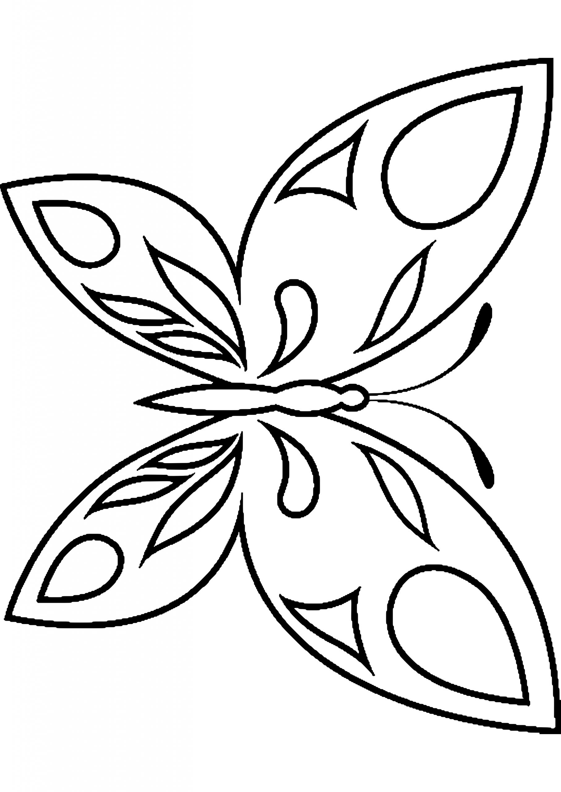 Schmetterling Schablone Zum Ausschneiden - 1Ausmalbilder bei Schablone Schmetterling Kostenlos