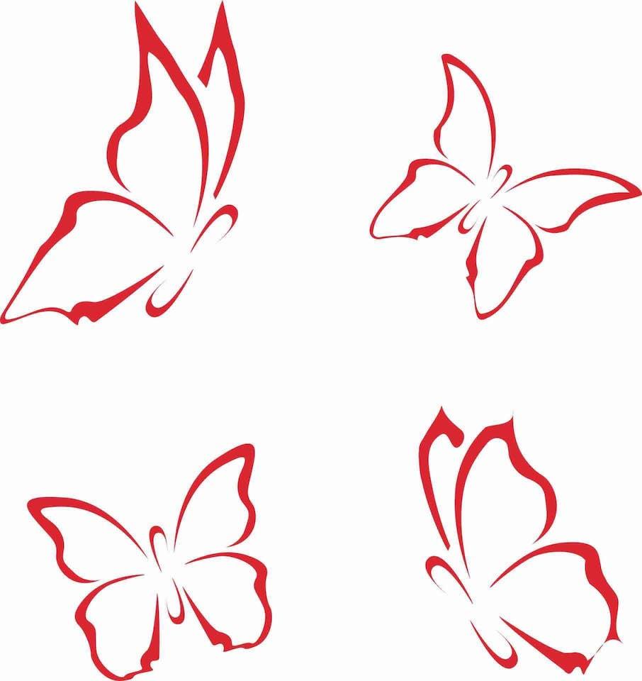 Schmetterling Vorlagen Zum Ausdrucken (Gratis) | Muster innen Schmetterling Vorlage