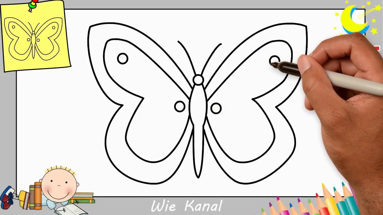 Schmetterling Zeichnen Lernen Einfach Schritt Für Schritt Für Anfänger &  Kinder 6 in Kinder Lernen Zeichnen Und Malen