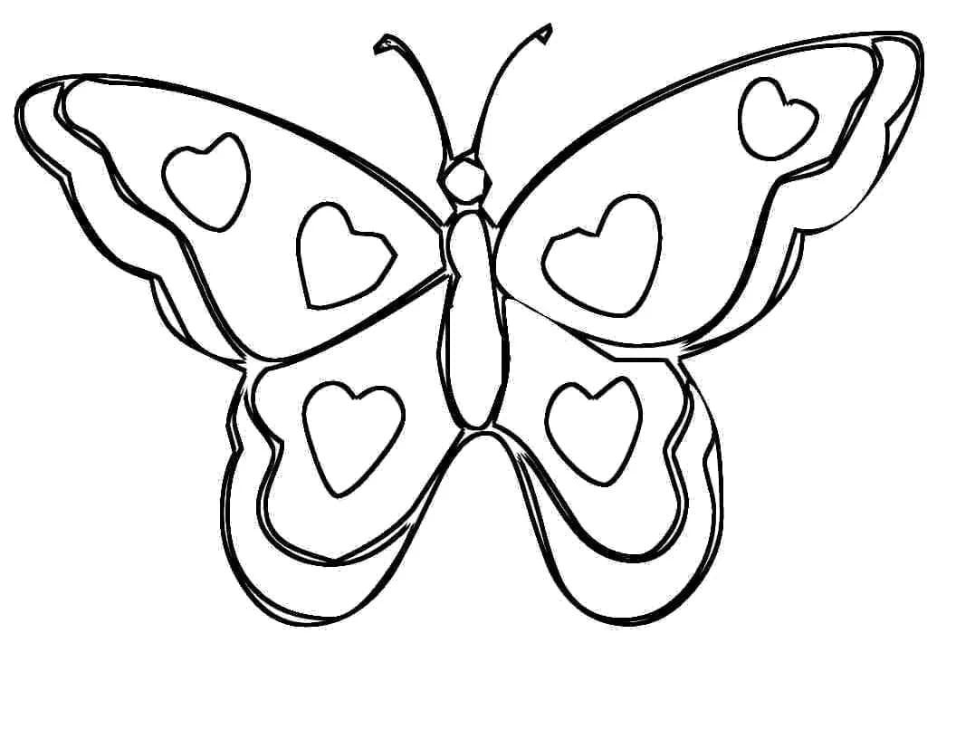 Schmetterlinge Zum Ausmalbilder Für Kinder, 100 Bilder bestimmt für Kostenlose Malvorlage Schmetterling