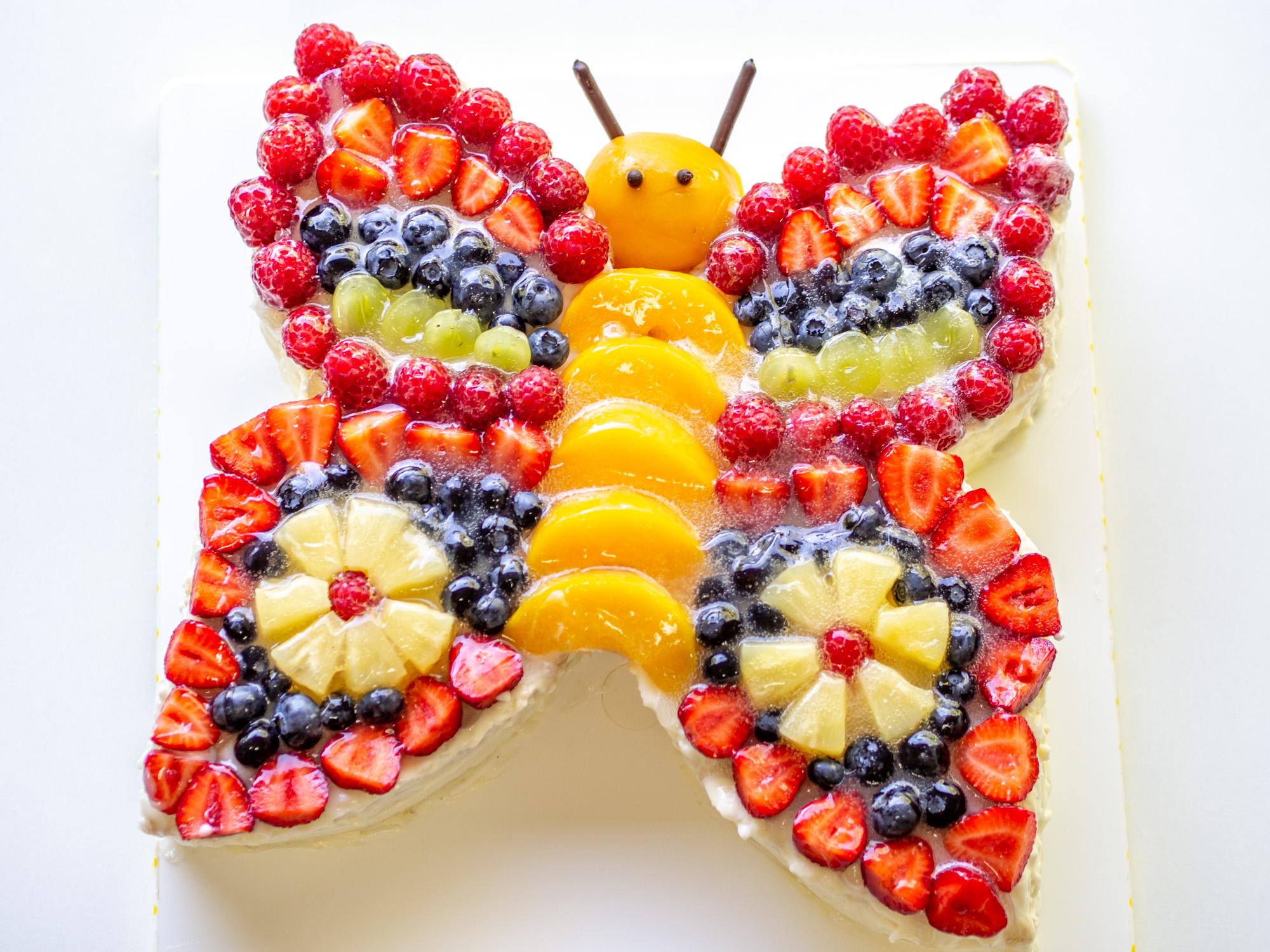 Schmetterlingstorte innen Torte Zum 2 Geburtstag