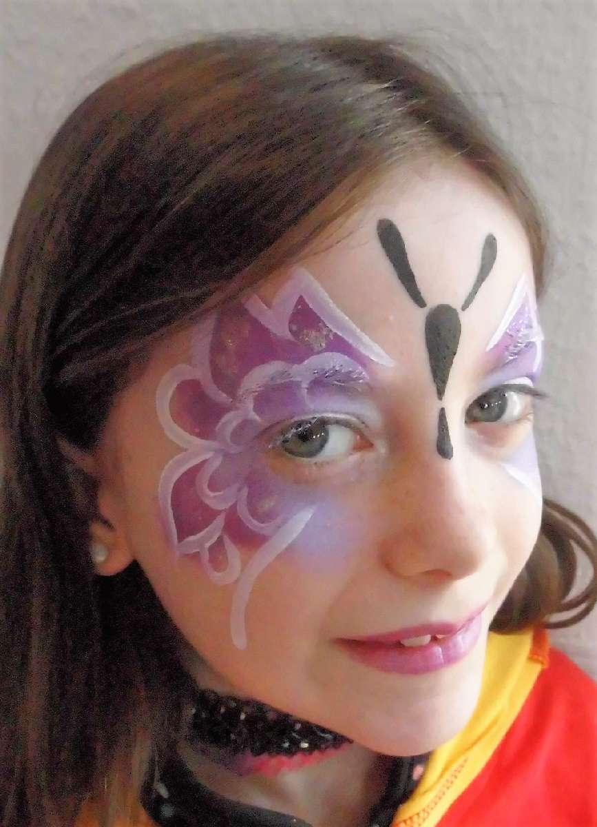 Schminkvorlage Für Schmetterling - Jubelkinder.de ganzes Schminkvorlagen Kinderschminken Zum Ausdrucken