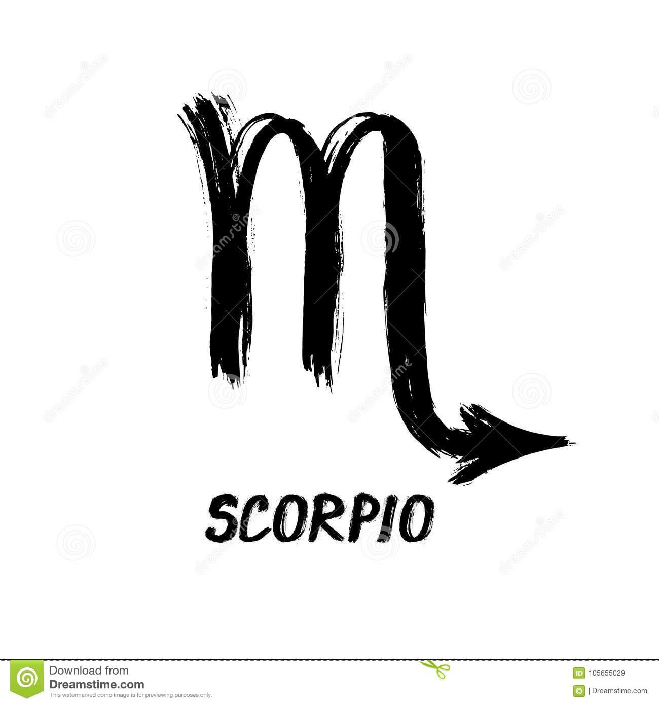 Schmutz-Sternzeichen - Skorpion - Der Skorpion Vektor bestimmt für Skorpion Sternzeichen Bilder
