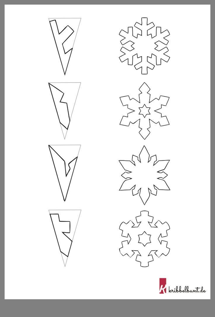 Schneeflocken Basteln (Mit Bildern) | Schneeflocken Basteln bei Schneesterne Schneiden