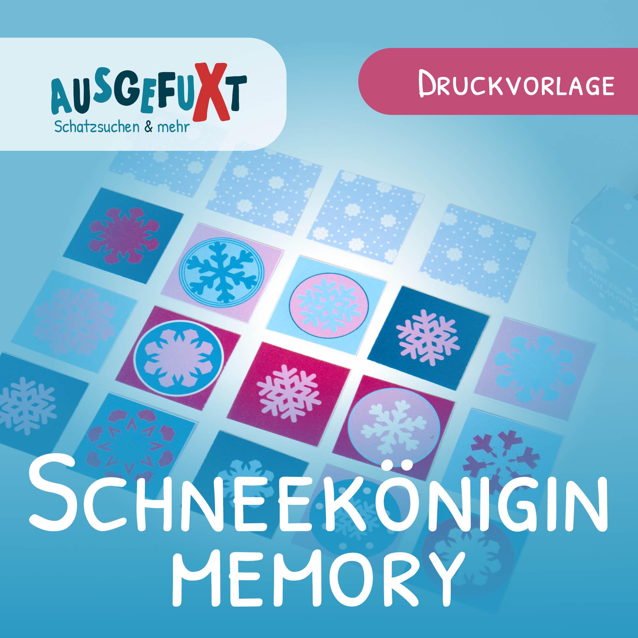 Schneeflocken-Memory: Kostenlose Druckvorlage   Ausgefuxt in Memory Für Kindergartenkinder Online