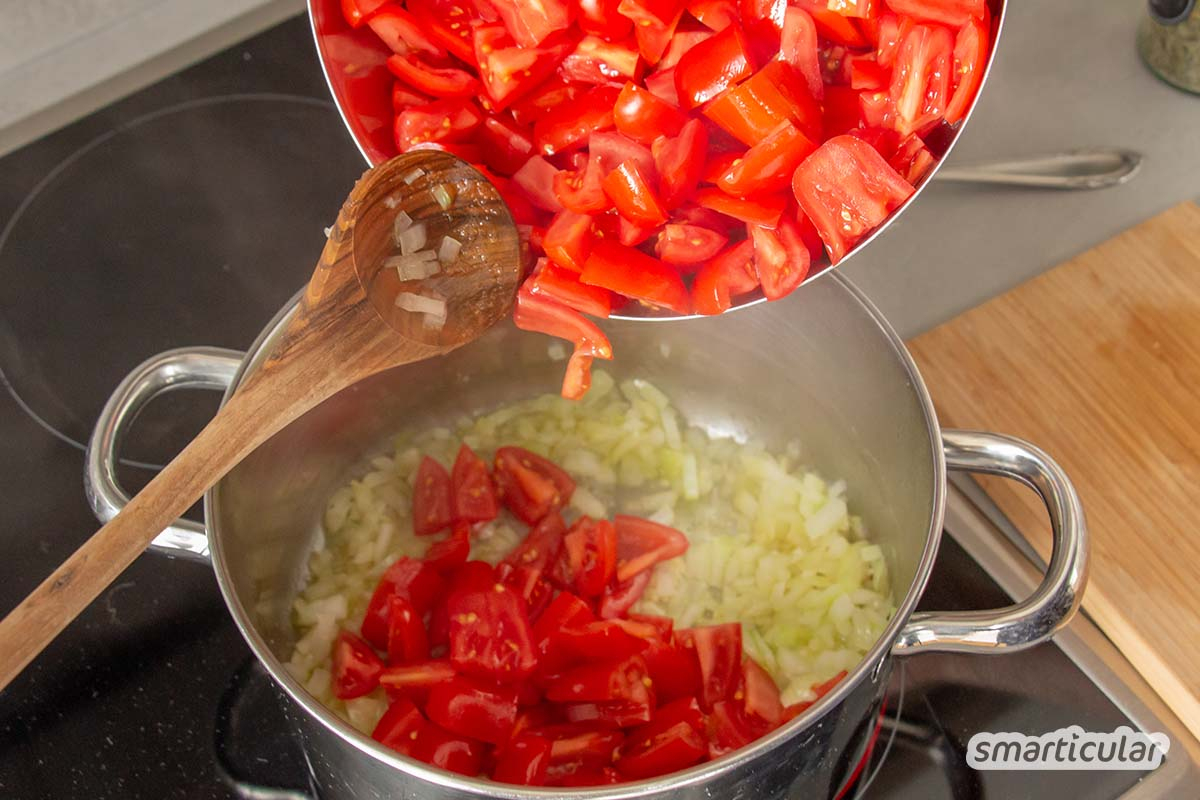 Schnelle Tomatensuppe Aus Frischen Tomaten – Viel Besser Als Tütensuppe bestimmt für Rezepte Tomatensuppe Aus Frischen Tomaten