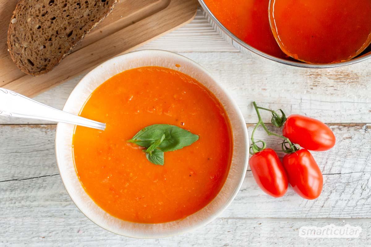 Schnelle Tomatensuppe Aus Frischen Tomaten – Viel Besser Als Tütensuppe für Tomatensuppe Selber Machen Mit Frischen Tomaten
