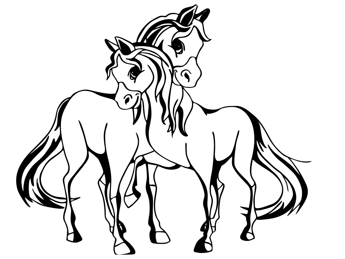 pferde zum abpausen  kinderbilderdownload  kinderbilder