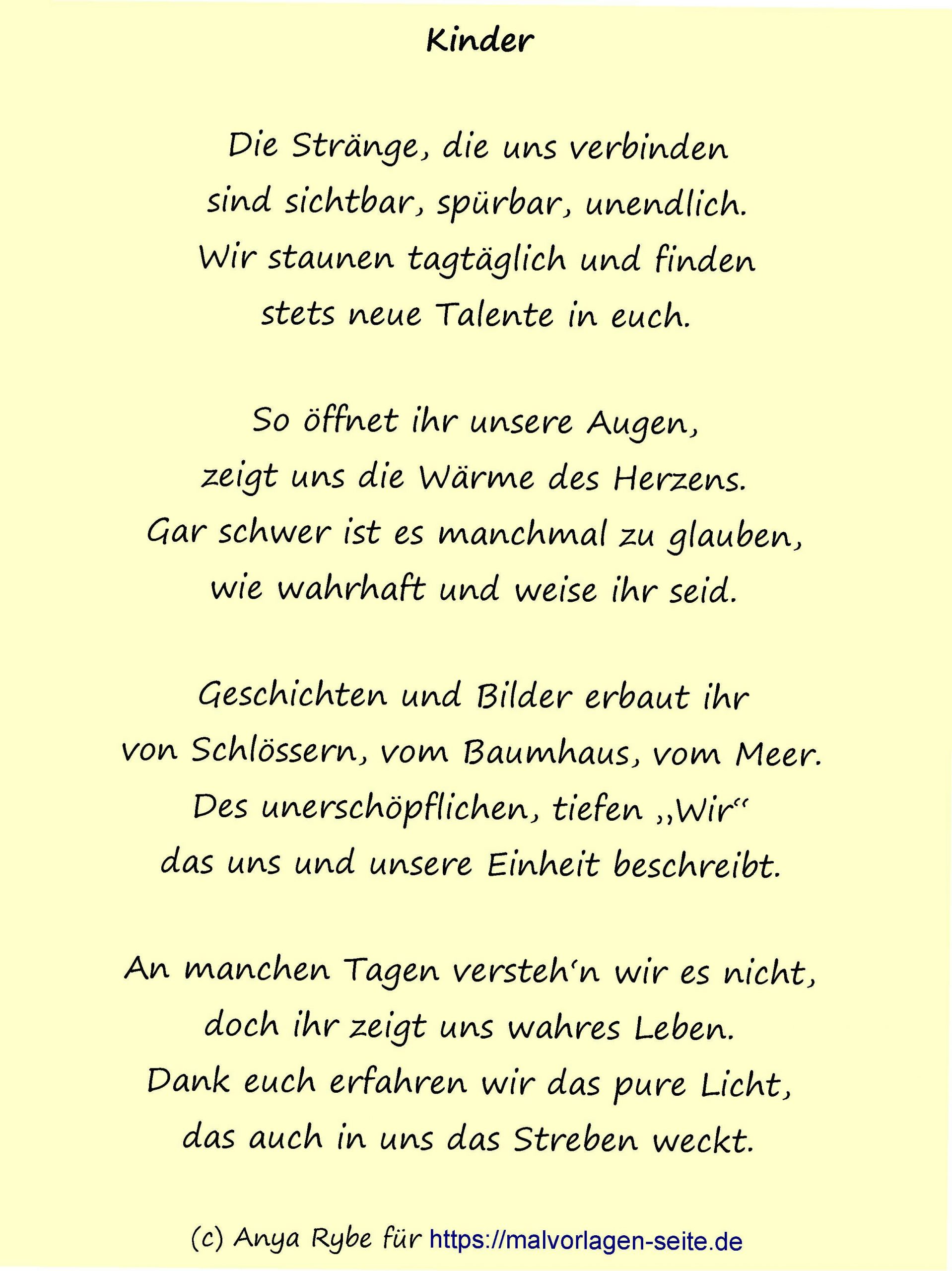 Schöne Neue Gedichte Über Kinder - Auch Ohne Eigene Kinder über Adventsgedicht Für Kindergartenkinder